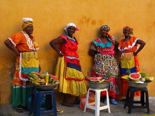 Fruit vendors in Cartagena.  #Colombia #tourism