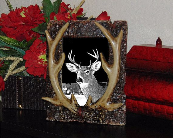 Laser Engraved  Deer Plaque on Black Granite by AllVickiesVisions