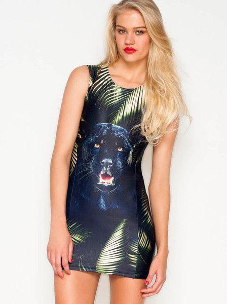 WE ARE HANDSOME - The Pantera Panel Mini Dress $275.00
