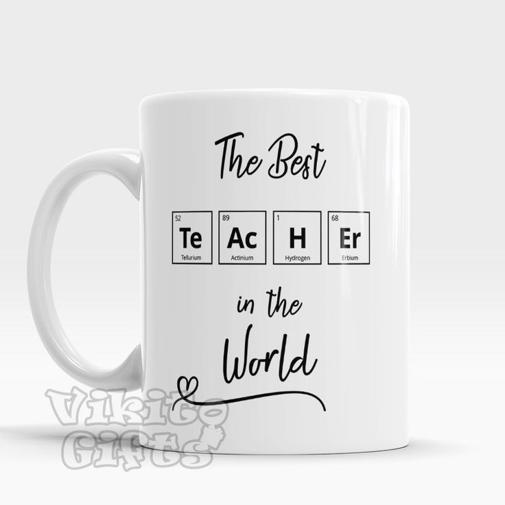 Teacher gift Chemistry Teacher Mug The Best teacher in the World Gift for teacher Coffee mug Unique gift for favorite teacher chemistry