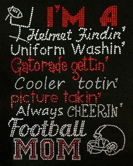 Football Mom Bling Shirt Rhinestone by BlingMeBabyBoutique on Etsy, $31.99