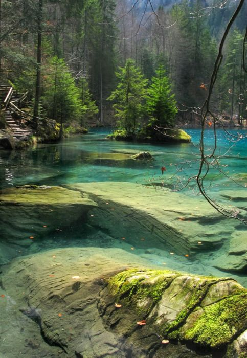 Blausee, Switzerland. I want to go see this place one day. Please check out my website thanks. www.photopix.co.nz