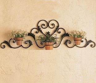 De pared de hierro macetas cestas de flores, pared de hierro forjado  ofertas de rack