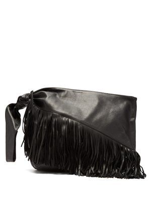 216ef6272ef Farwo fringed leather bag