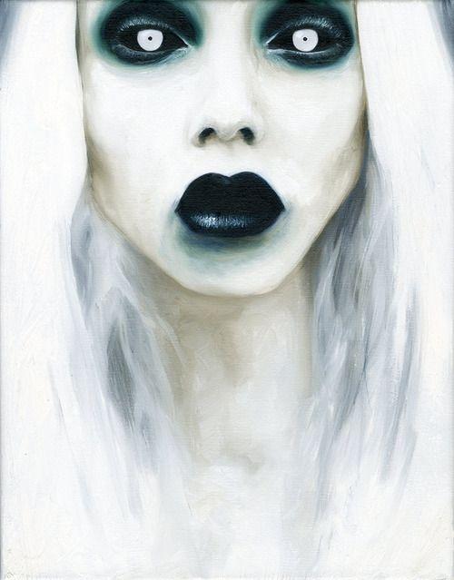 Ghost makeup inspiration #halloween #makeup