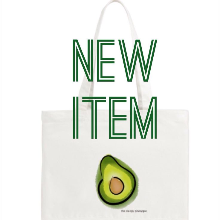 NEW ITEM | AVAILABLE NOW |   The avocado tote bag is finally here! 🥑 Get yours now in my etsy shop!