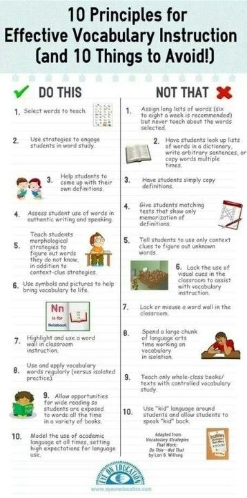 Vocabulary Dos and Don'ts