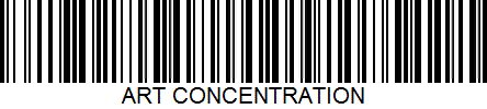 Art concentration barcode#1