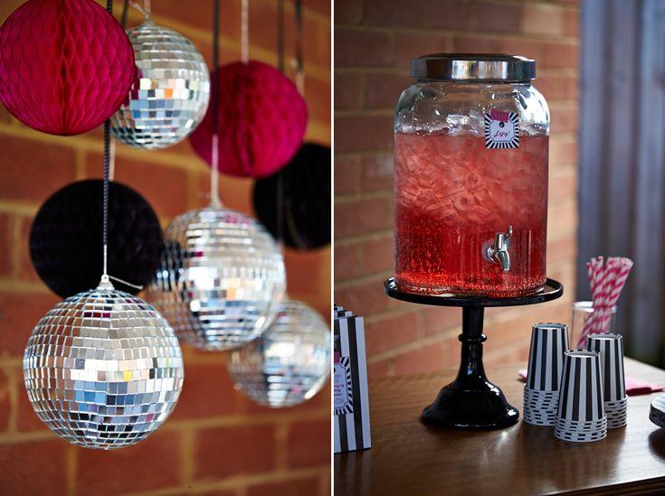 Decorados ideales para una fiesta disco / Ideal decorations for a disco party
