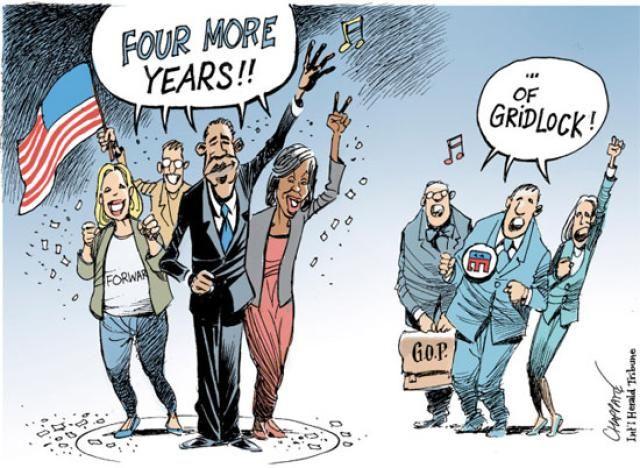 Political Cartoons of the Week: 4 More Years of Gridlock
