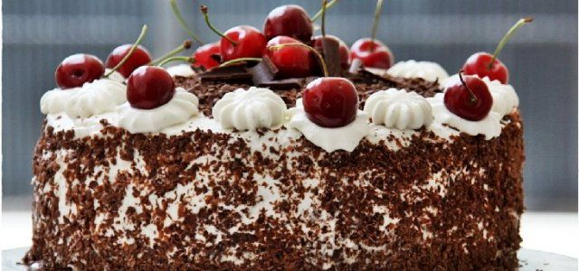 This quick and easy Black Forest Cake can be made in a third of the time that it would take to make the traditional recipe.