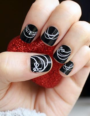 Nail Wraps designed by Silly Bee's Chickadees!: Nails Art, Pearls Necklaces, Nailart, Nails Design, Naildesign, Black Nails, Nails Ideas, Fingers Nails, Nails Wraps
