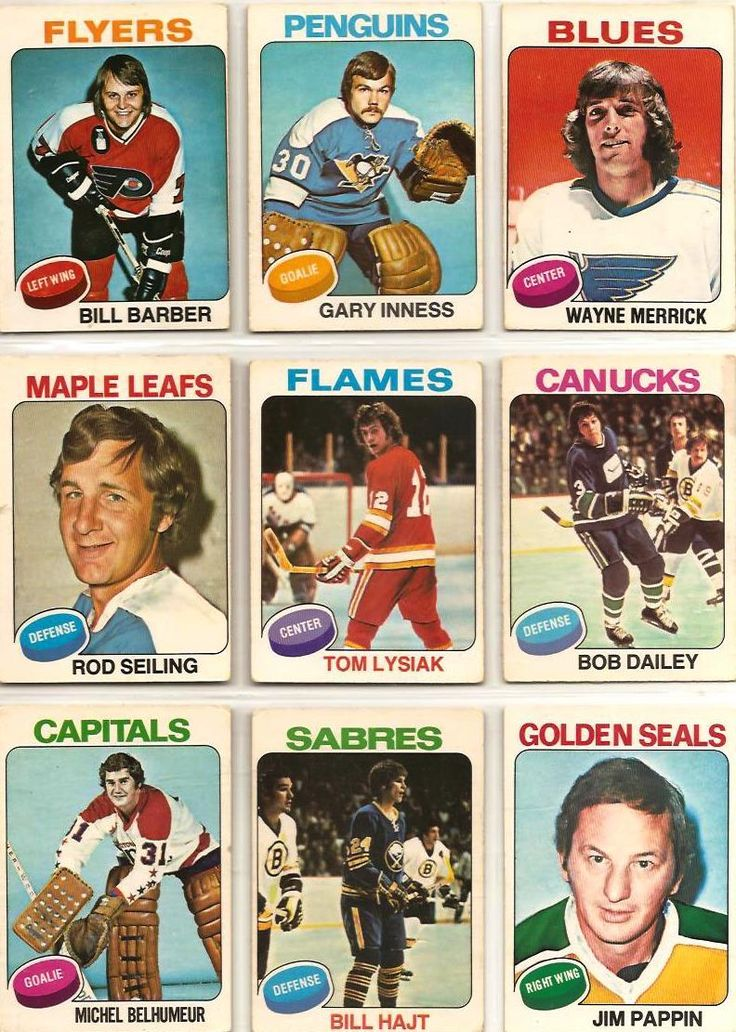 Bill Barber, Gary Inness, Wayne Merrick, Rod Seiling, Tom Lysiak, Bob Dailey…