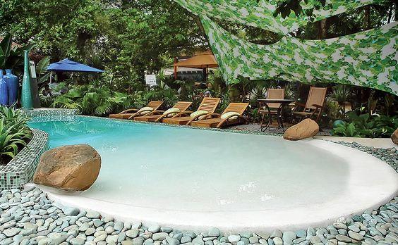 25+ ideias incríveis de piscina de entrada na praia para melhorar sua casa   – Pool