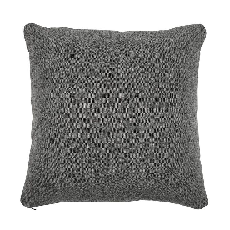 charcoal khadi quilted