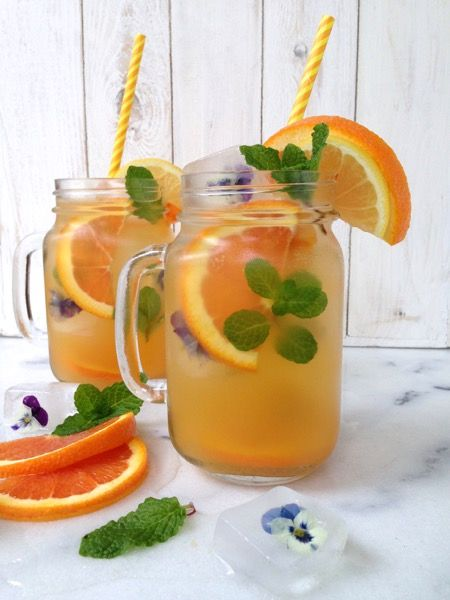 Sparkling Orange Lemonade Recipe , blood oranges, lemons, lemon balm, maple syrup & bubbly sparkling water make the perfect wintry lemonade.