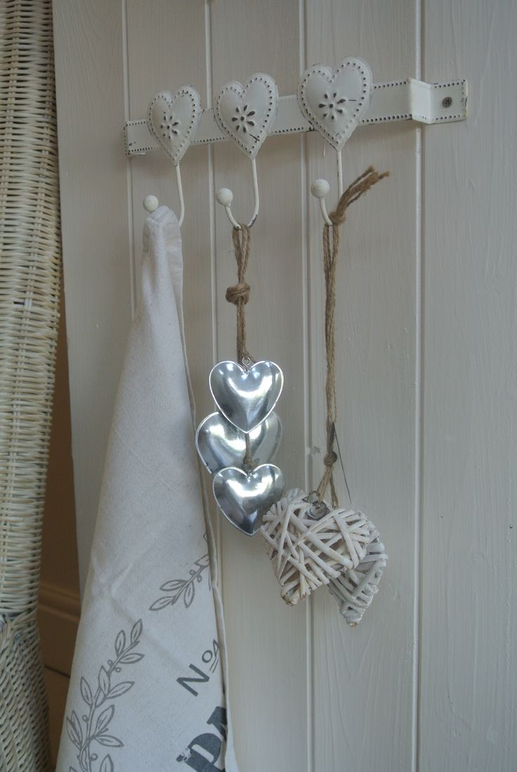 Heart Hook/Hangers  Add a Heart Hook to the home ideal for Kitchen/Bathroom This item comes in cream with heart detail and it made from metal Priced at £4.60 Item is subject to stock availability  Payment by Paypal or Bank Transfer Collection or Delivery