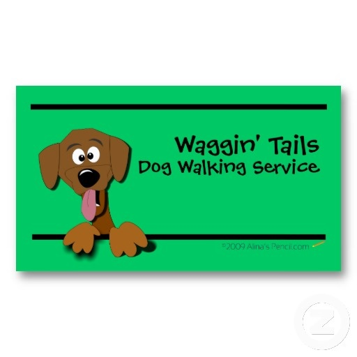 16 best dog walking business cards images on pinterest business cartoon dog business card template green colourmoves
