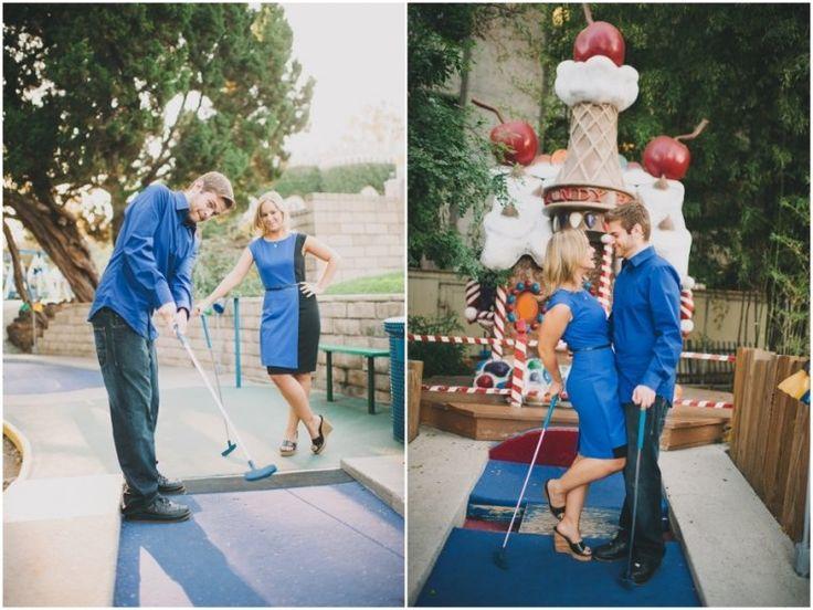mini golf engagement photos!