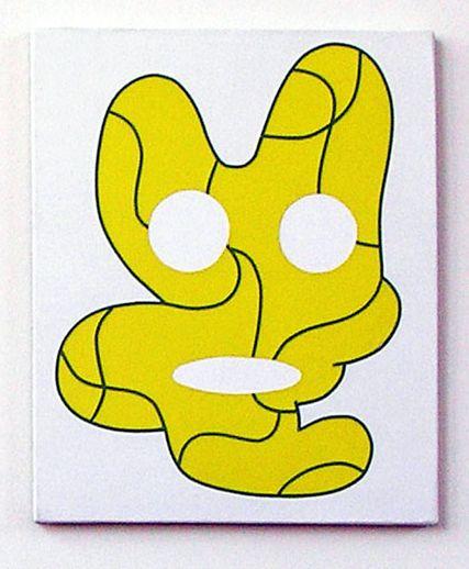 Olivier Gourvil, Erg, 2004, oil and acrylic on canvas, 47 x 30 cm