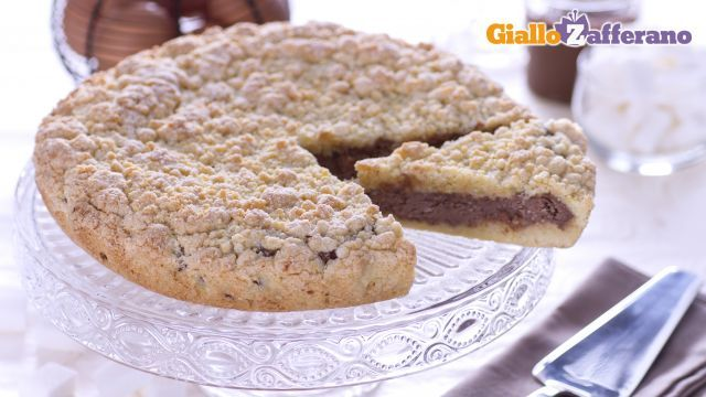 Torta sbriciolata alla Nutella - Le Ricette di GialloZafferano.it