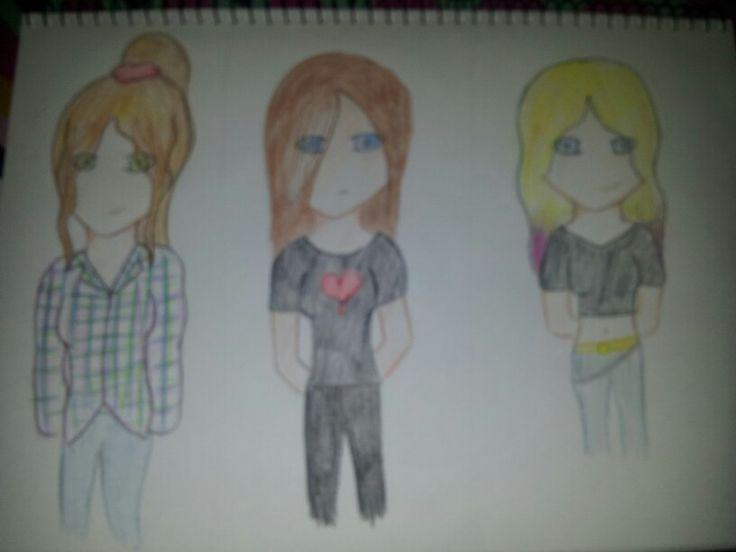 Some anime people I drew