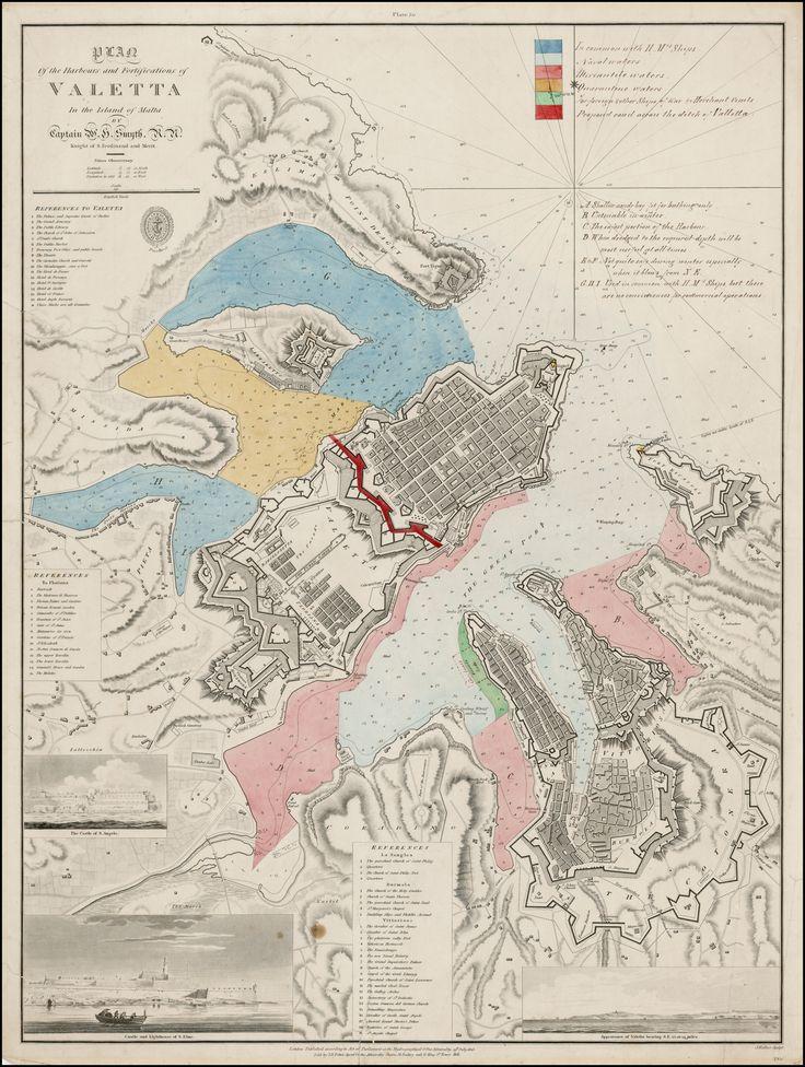 Map Of Valetta Malta 1823