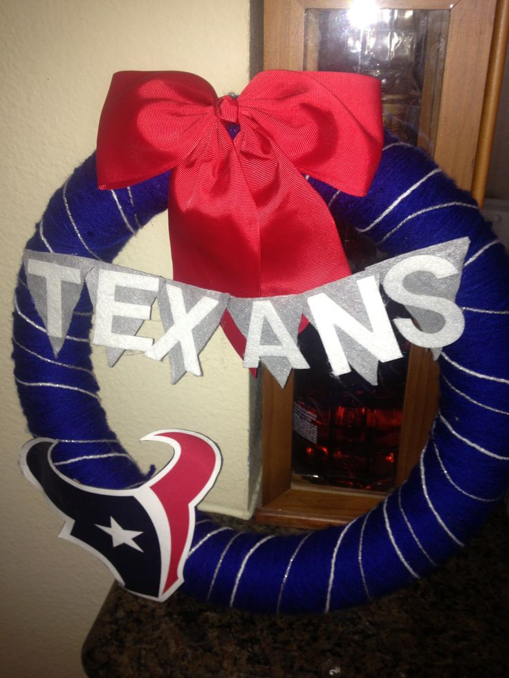 Texans wreath for football season- a must have for fans