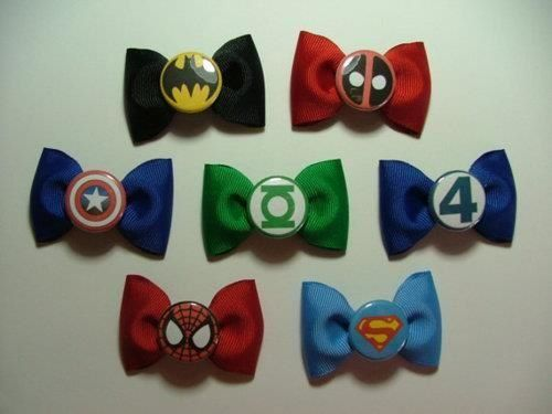 Bows bows bowsHairbows, Little Girls, Bows Ties, Avengers Birthday, Bowties, Hair Bows, Super Heroes, Daddy Girls, Superhero