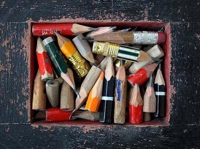 tiny pencil stubs - these have really been used