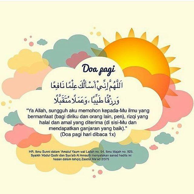Selamat pagi.. Ayo baca sunnah doa pagi ya