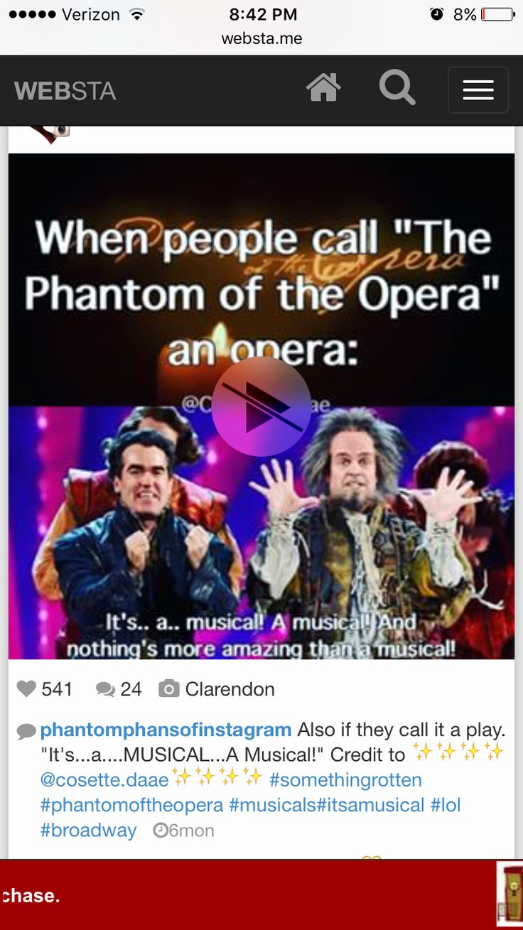 I literally had someone who hasn't seen POTO argue with me saying that it wasn't a musical it's an opera!