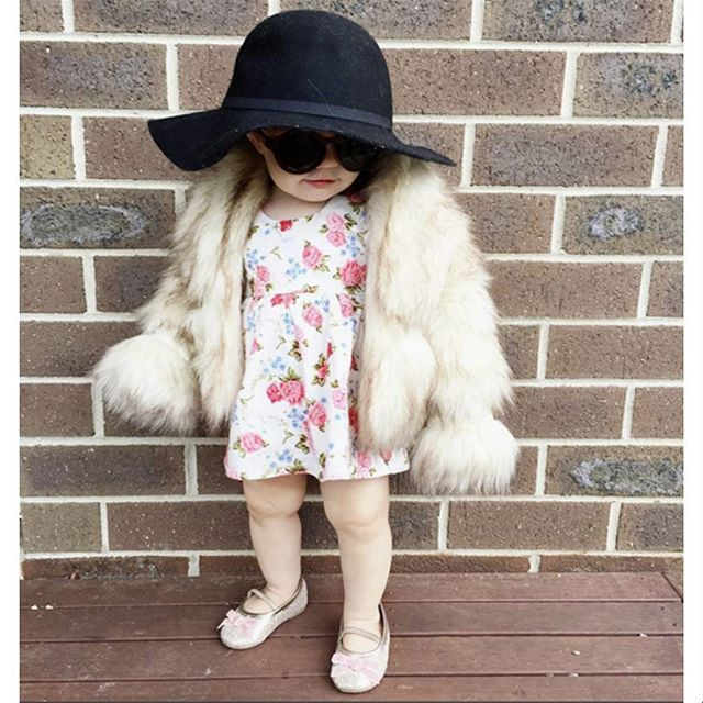 regram via @2masters_and_a_miss. Baby Elsa wears fauxfur coat by Petite Couture from Ozsale. Doesn't she look like a real fashionista already? We ❤️ seeing your style finds! tag #mystylefind for your chance to be featured in our feed