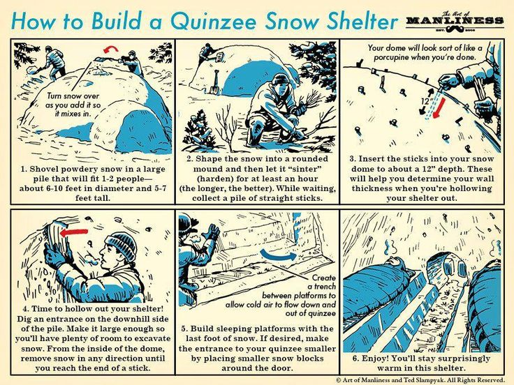 How to Build a Quinzee Snow Shelter