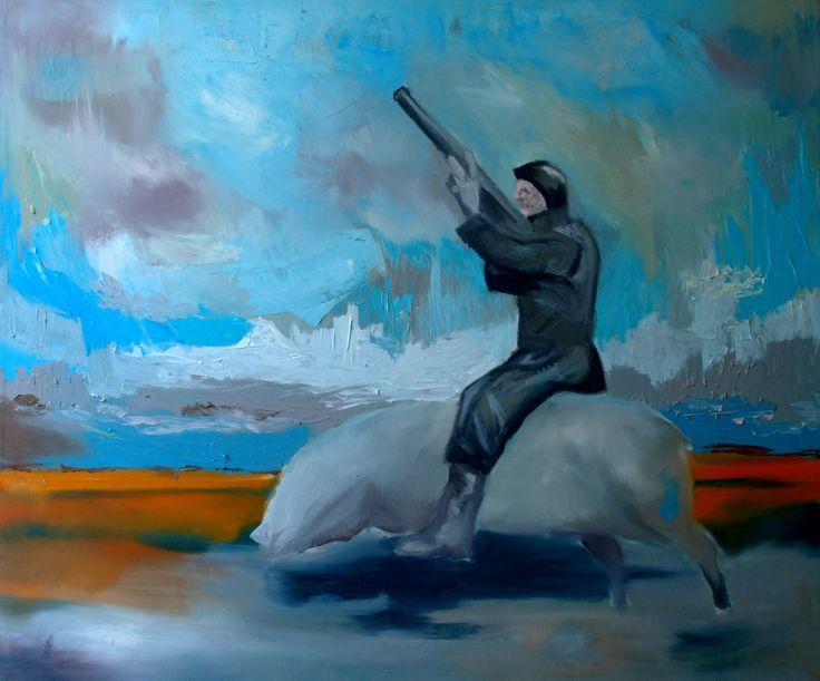 crazycrazy dream in countryside  Oil on canvas by David Nemeth