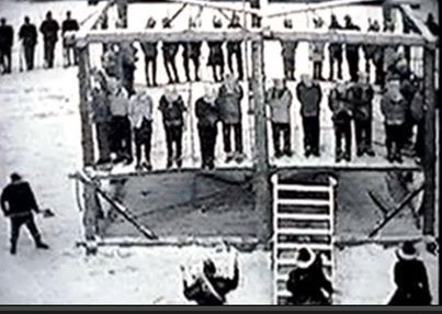December 26, 1862 -38 Dakota Warriors were hung in the U.S.A. becoming the largest mass execution still remaining today. The hanging happened in Mankato, Minnesota. Abraham Lincoln signed the papers to have 40 men hung because of the Dakota Uprising. The U.S. did not follow through with their agreement on The Treaty of 1851.