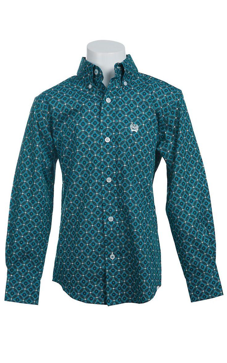 Cinch Long Sleeve Boy S Fine Weave Shirt Cowboy Outfits