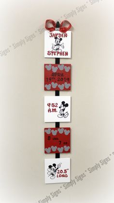 Black white gray and red Mickey Mouse custom by SimplySignsByJess