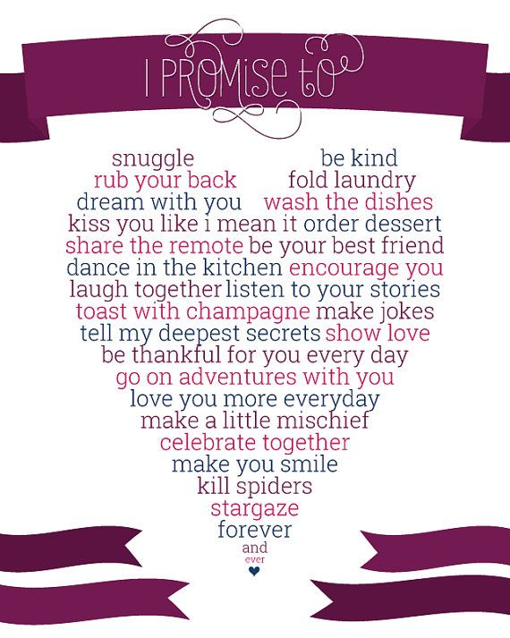 8x10 CUSTOM Print- I Promise To Love You Forever and Ever Wedding ...