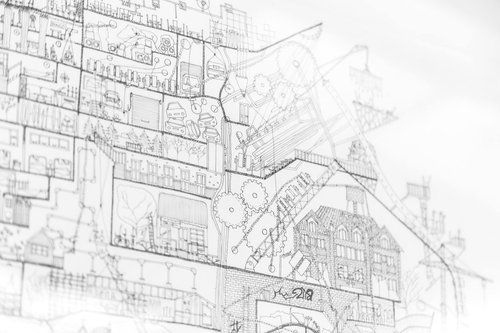 Ellie Compton: The Neighbourhood New Zealand Artist that intertwines architecture and Narrative in complex hand drawings