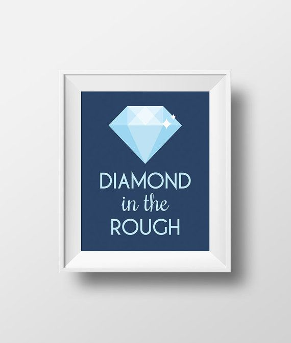 """Diamond in the Rough"" Disney Aladdin Quote - Wall Art Print by Enchanted Type. Available as an instant download!"