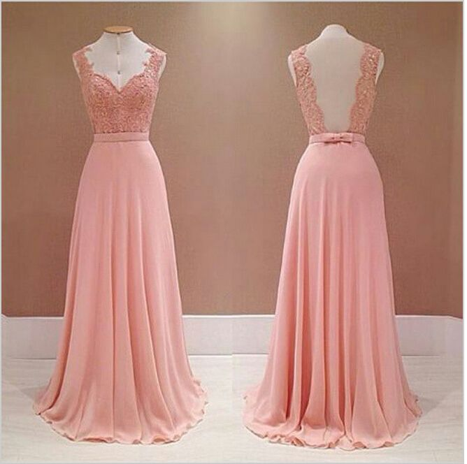 $145 Pretty Prom Dress,Sweetheart Prom Dress,Chiffon Prom Dress,Floor Length Prom Dress,Lace Prom Dress, Appliques Prom Dress,Backless Prom Dress ,Gowns For Wedding Party