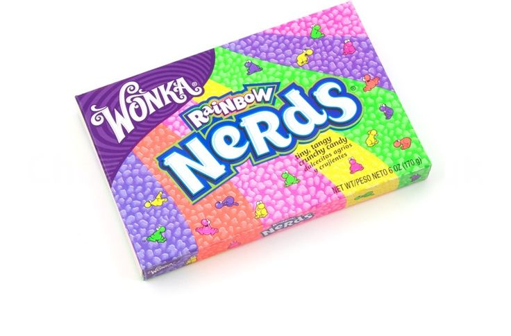 Wonka is an iconic candy brand and they make amazing sweets; these Nerds are small chewy sweets that come a great range of favours.  These Nerds are the large theatre box that contains all of the great Nerds flavours.