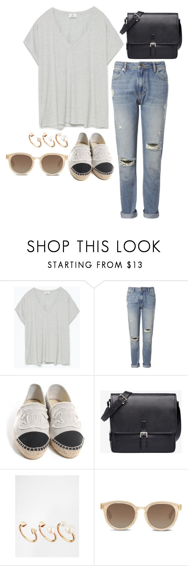 #28 by chelsealyn on Polyvore featuring Zara, Whistles, Chanel, Prada, ASOS and TOMS