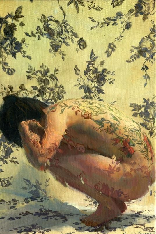 Beautiful Floral Nudes Painted By SERGIO LOPEZ #Art #Painting