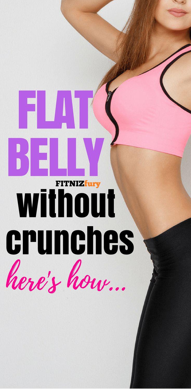 Flat belly without crunches. Here's how. #weightloss #fatloss #flatbelly #bellyfat #flatabs #stubbornbellyfat
