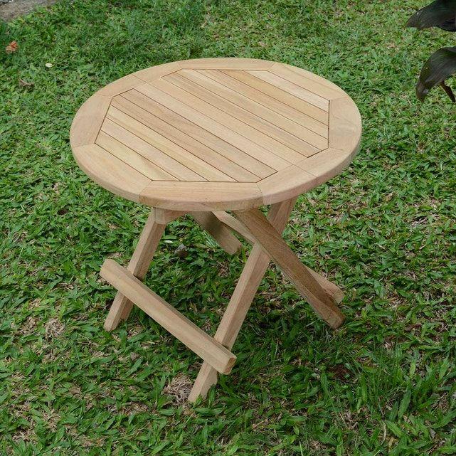 Table Basse Pliante Ronde En Teck Ecograde Kuta O 50 Cm Taille Taille Unique Table Basse Pliante Table Basse Et Table Basse Ronde