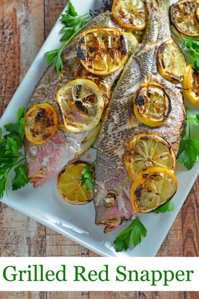 Grilled Red Snapper- how to prepare and grill whole fish with fresh herbs and lemon, Mediterranean style fish at home! You won't believe how easy it is to make your own whole fish! www.savoryexperiments.com