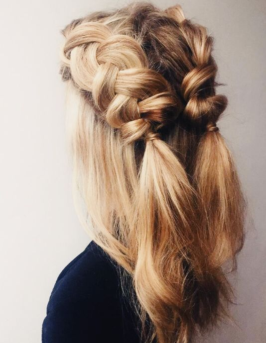 Creative And Great Inspiring Half Up Half Down Hairstyles Wedding Ceremony Pinterest Hair Styles Medium Hair Styles Medium Length Hair Styles