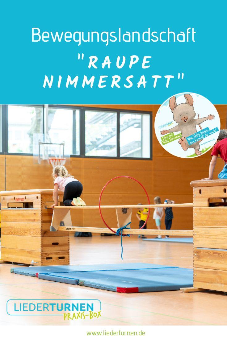 """Bewegungslandschaft """"Raupe Nimmersatt"""""""